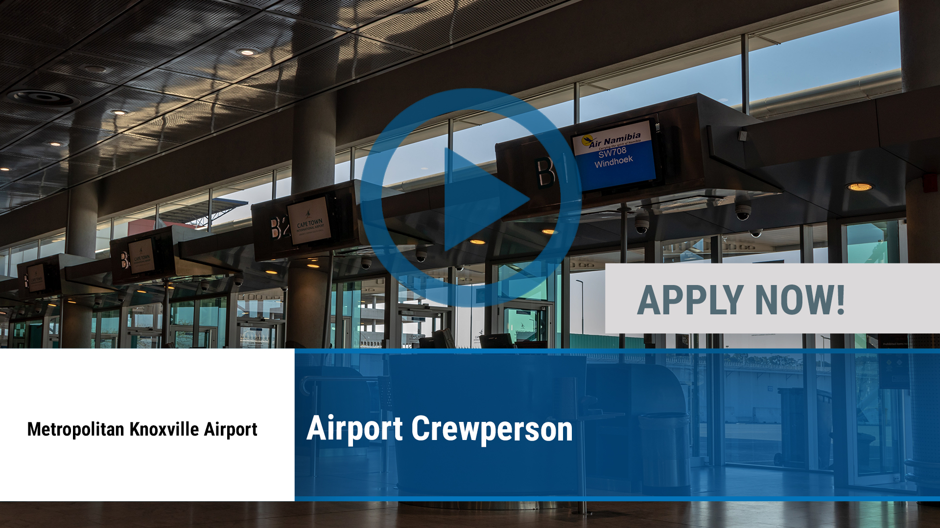 Watch our careers video for available job opening Airport Crewperson in Alcoa, TN