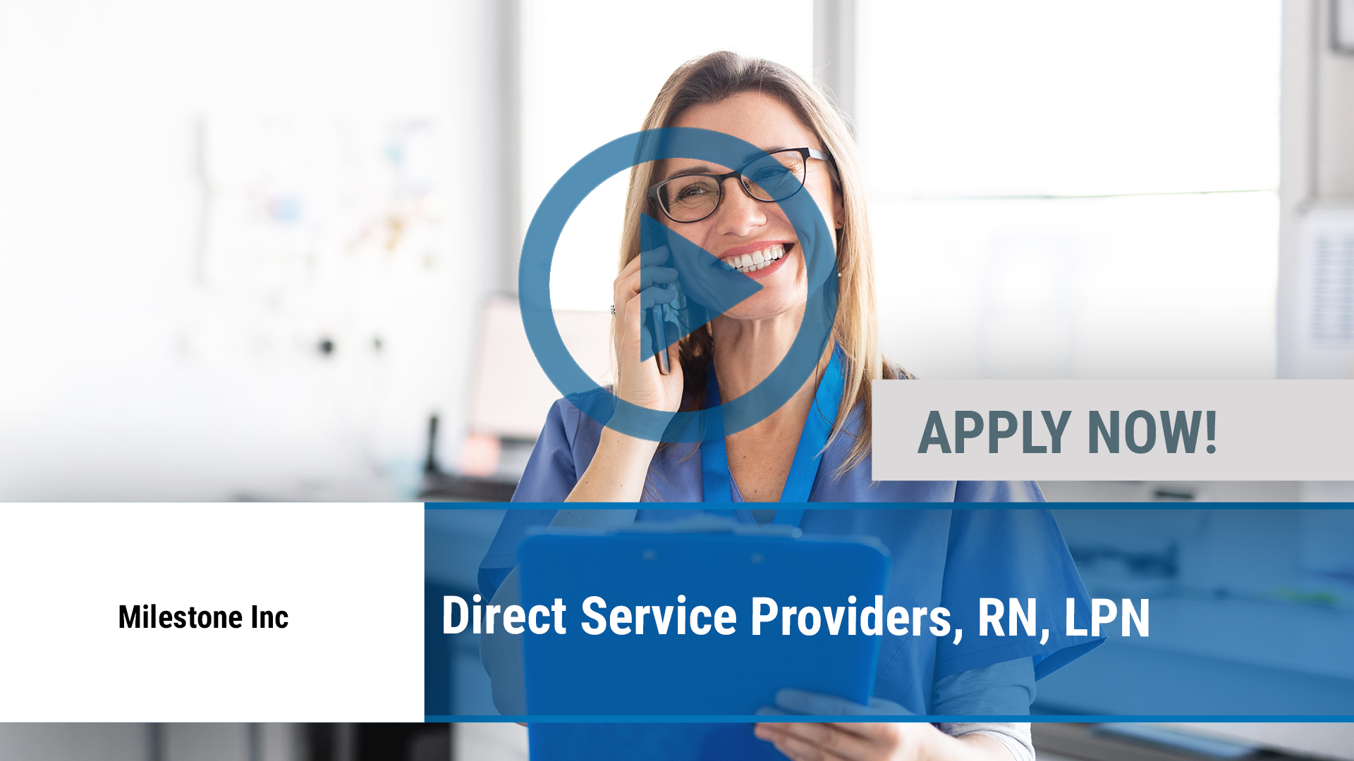 Watch our careers video for available job opening Direct Service Providers, RN, LPN in Rockford, IL