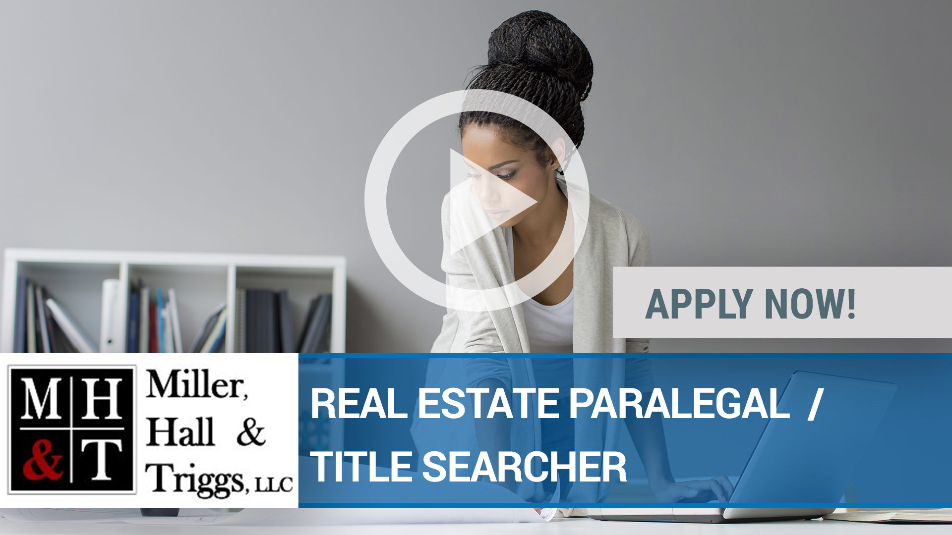 Watch our careers video for available job opening REAL ESTATE PARALEGAL  _ TITLE SEARCHER in Peoria, IL