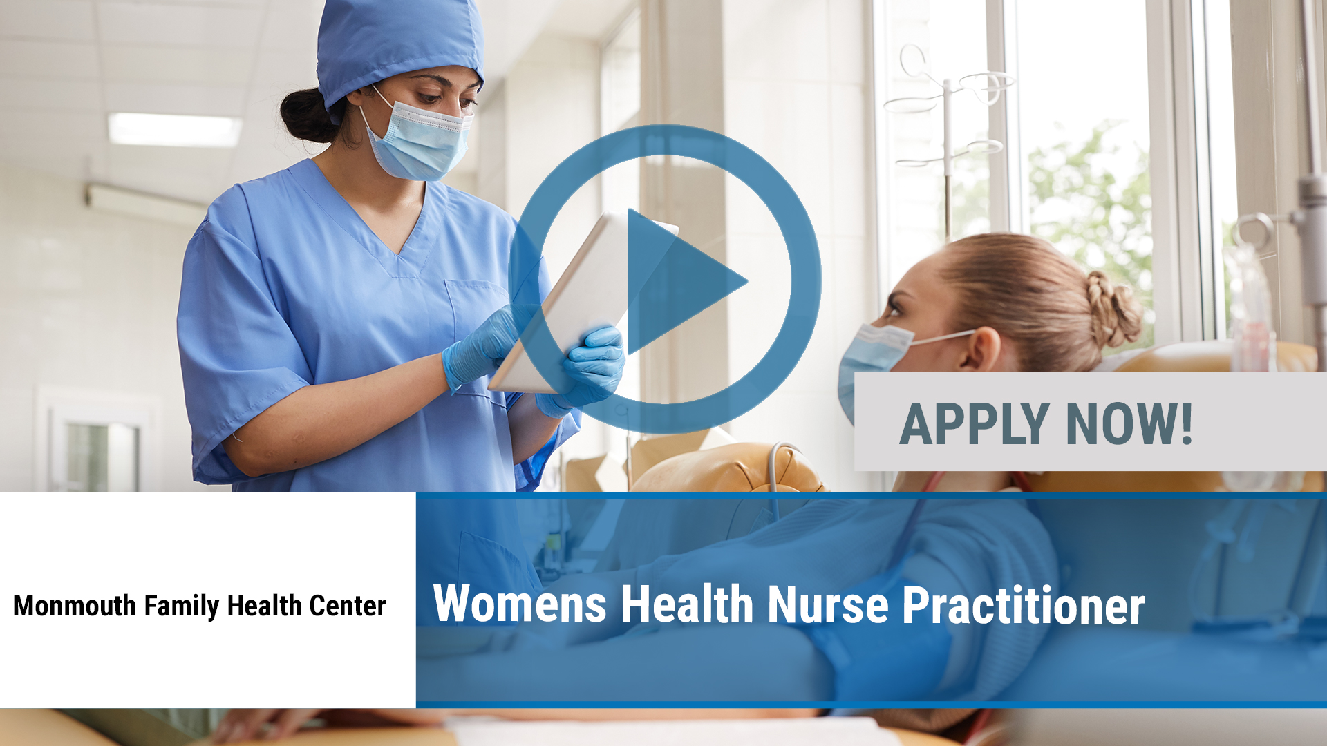 Watch our careers video for available job opening Women's Health Nurse Practitioner in Long Branch, NJ