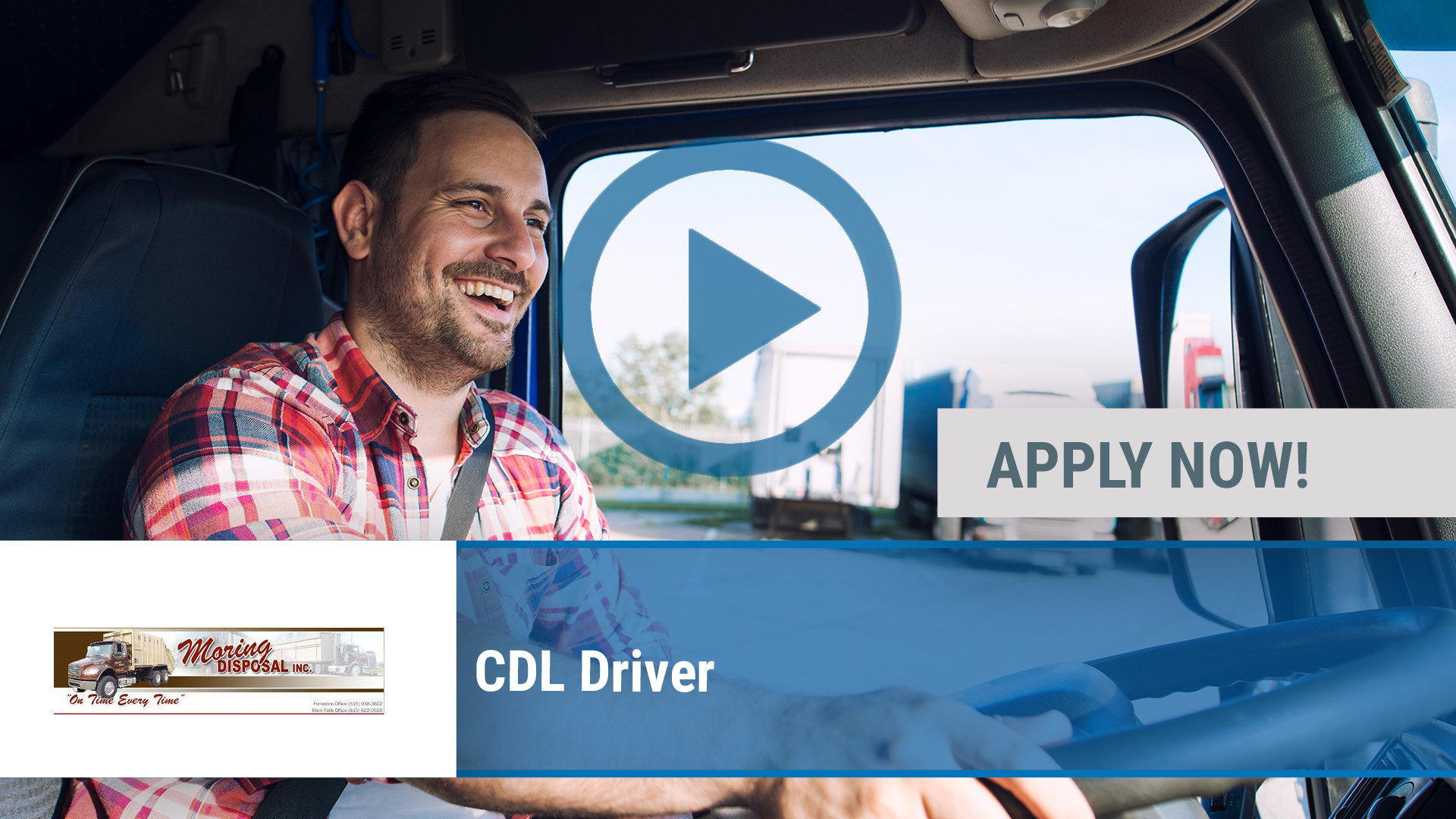 Watch our careers video for available job opening CDL Driver in Forreston, IL