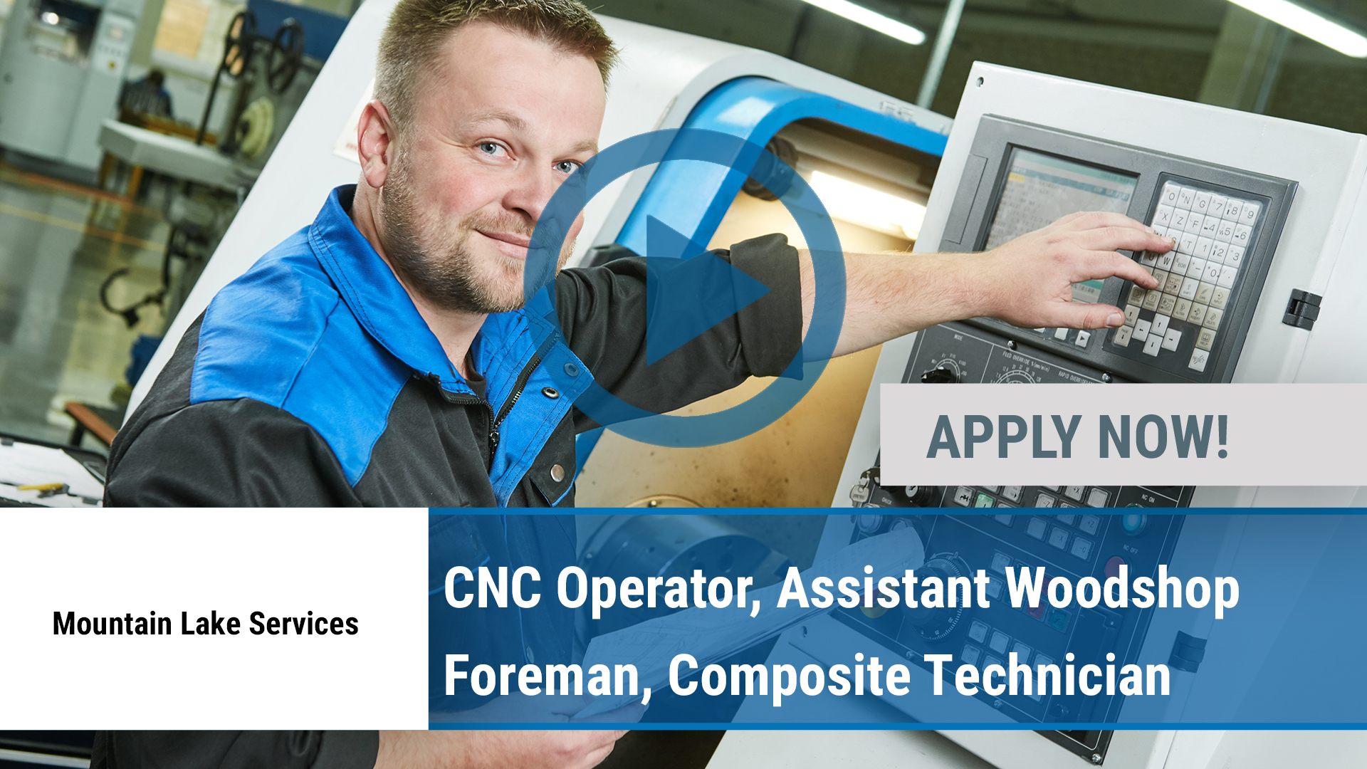 Watch our careers video for available job opening CNC Operator, Assistant Woodshop Foreman, Composi in Port Henry, NY