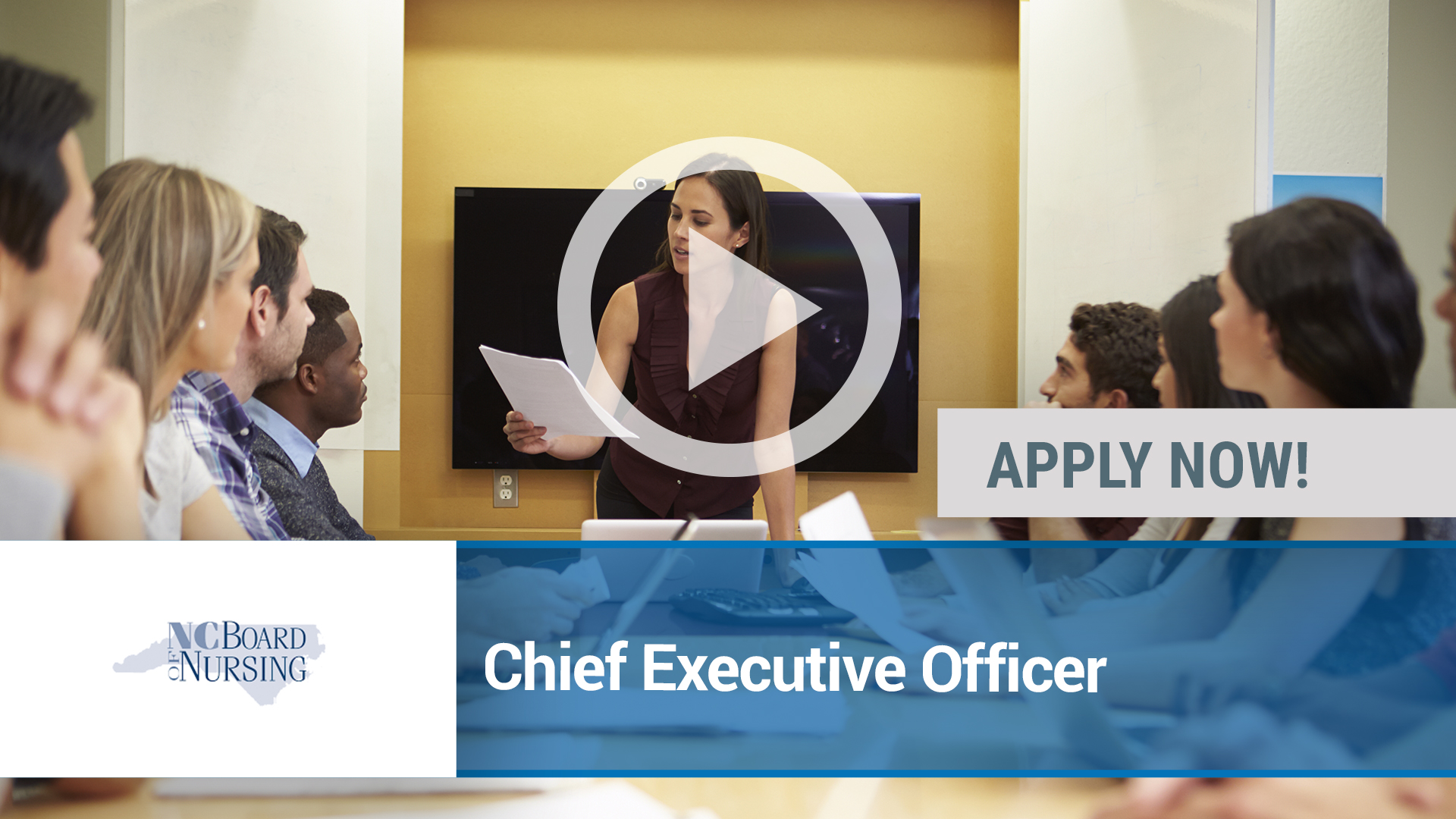 Watch our careers video for available job opening Chief Executive Officer in Raleigh, NC