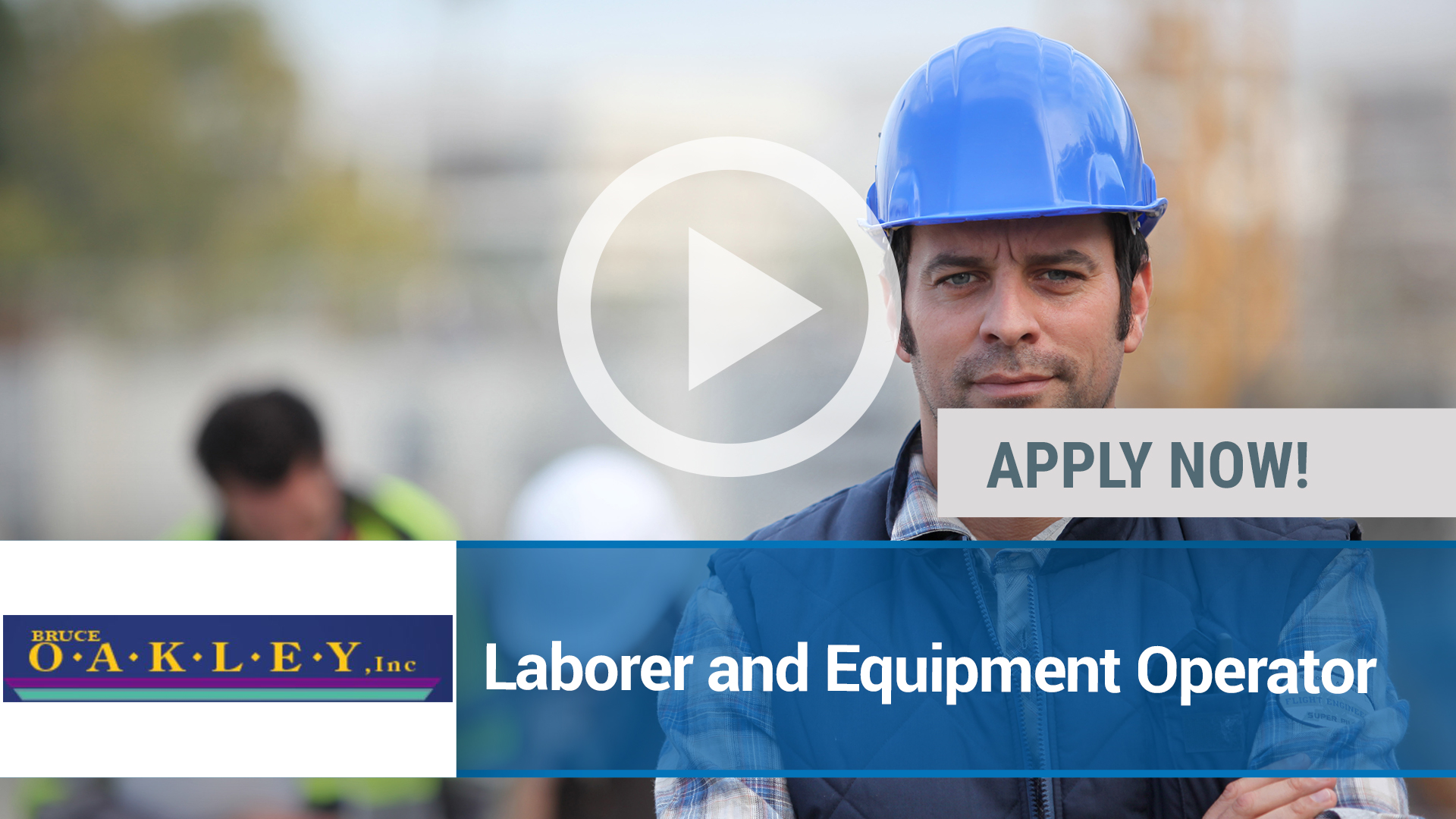 Watch our careers video for available job opening Laborer and Equipment Operator in Saint Louis, MO