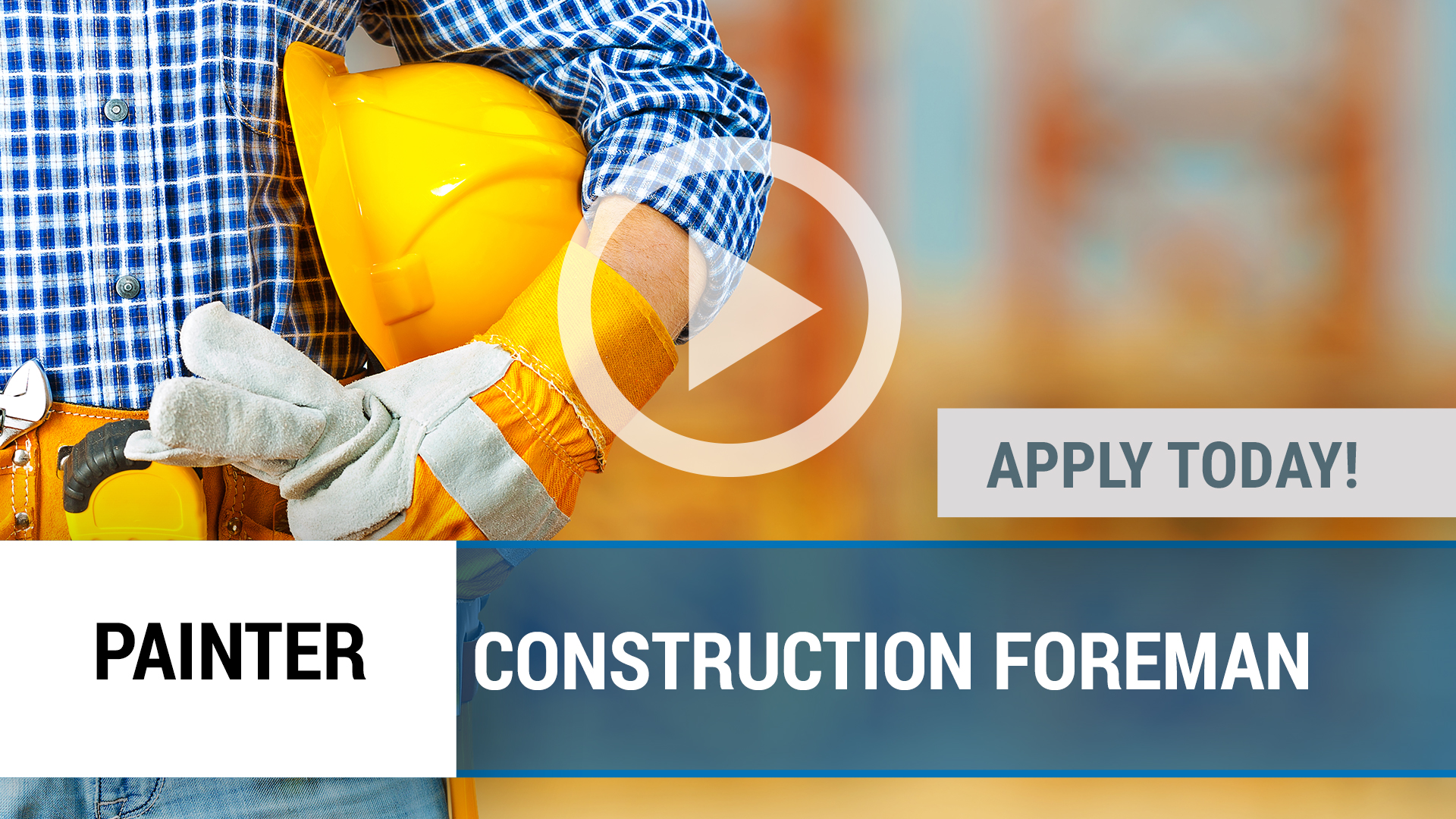Watch our careers video for available job opening CONSTRUCTION FOREMAN in Joplin, MO