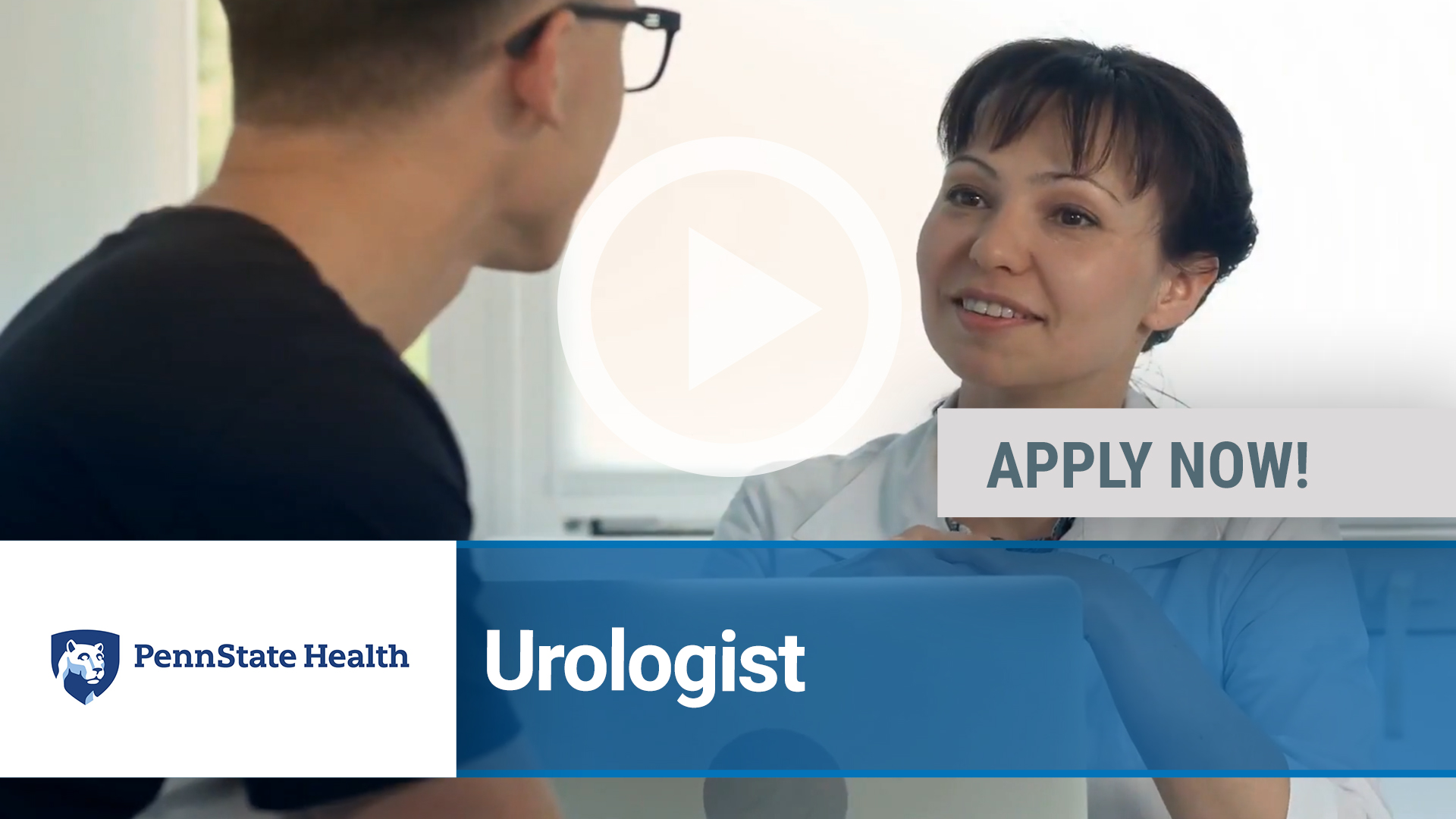 Watch our careers video for available job opening Urologist in Hershey, PA