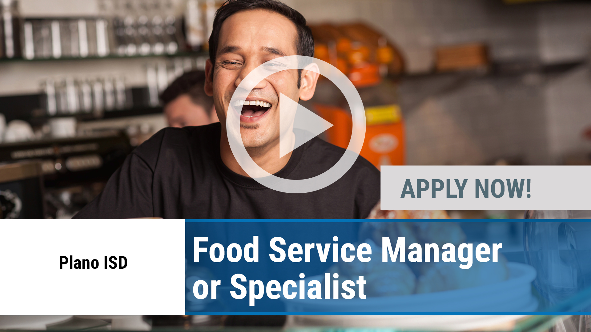 Watch our careers video for available job opening Food Service Manager or Specialist in Plano, TX