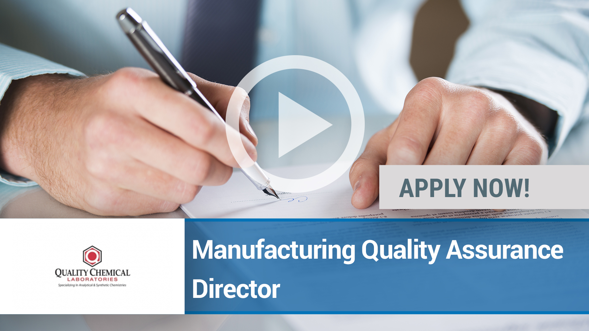 Watch our careers video for available job opening Manufacturing Quality Assurance Director in Wilmington, NC