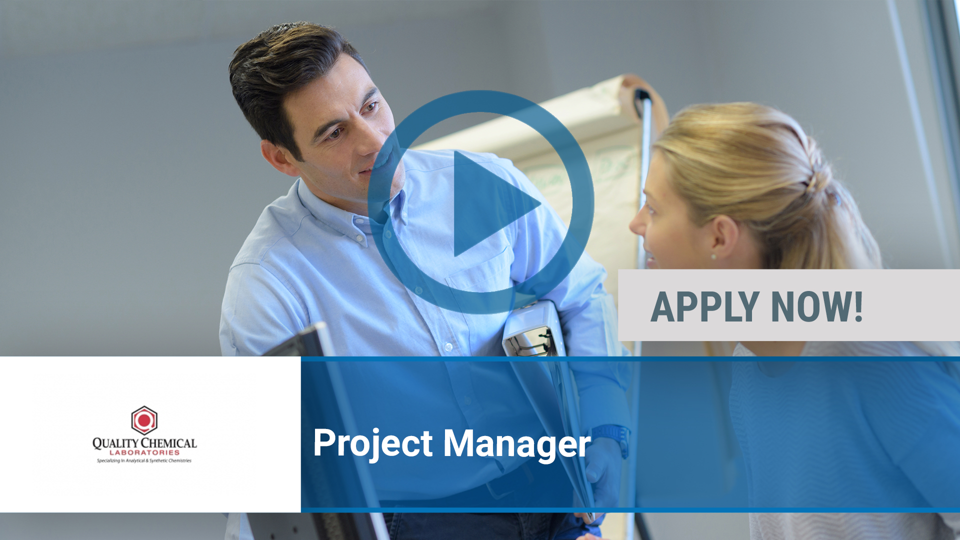 Watch our careers video for available job opening Project Manager in Wilmington, NC