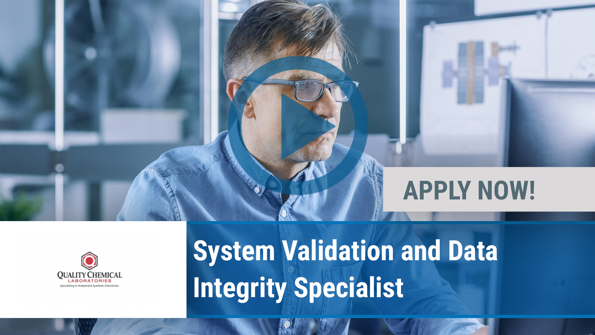 Watch our careers video for available job opening System Validation and Data Integrity Specialist in Wilmington, NC