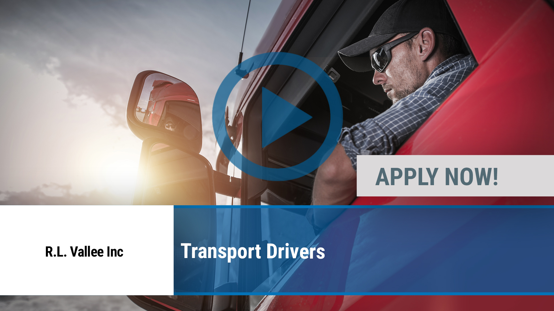 Watch our careers video for available job opening Transport Drivers in Champlain, NY