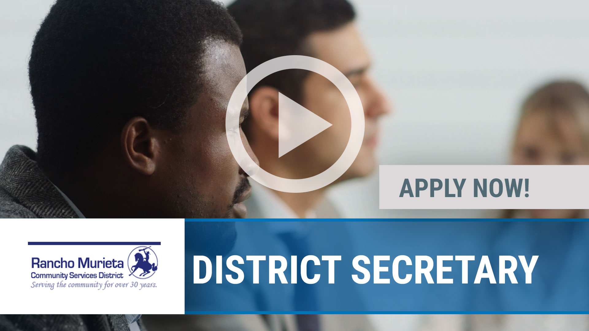 Watch our careers video for available job opening DISTRICT SECRETARY in Rancho Murieta, CA, USA