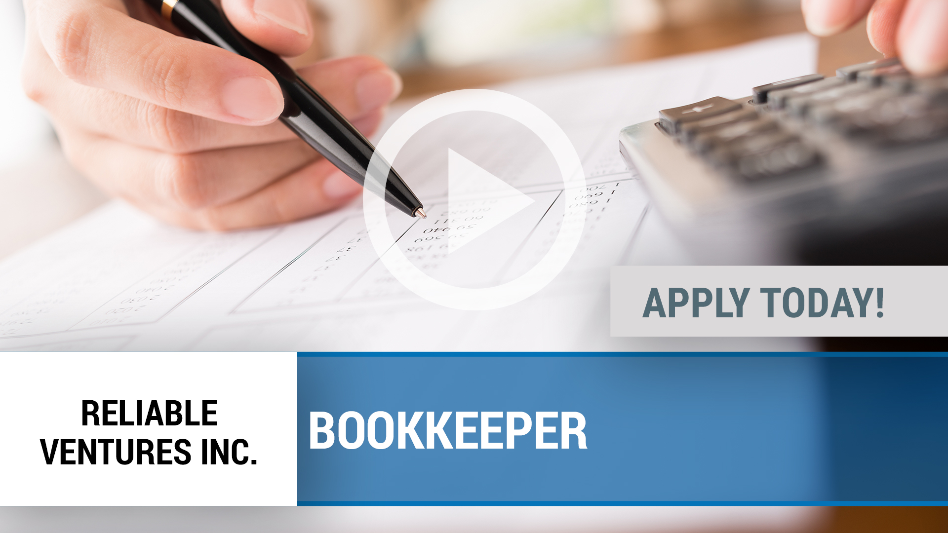Watch our careers video for available job opening Bookkeeper in Dallas, TX