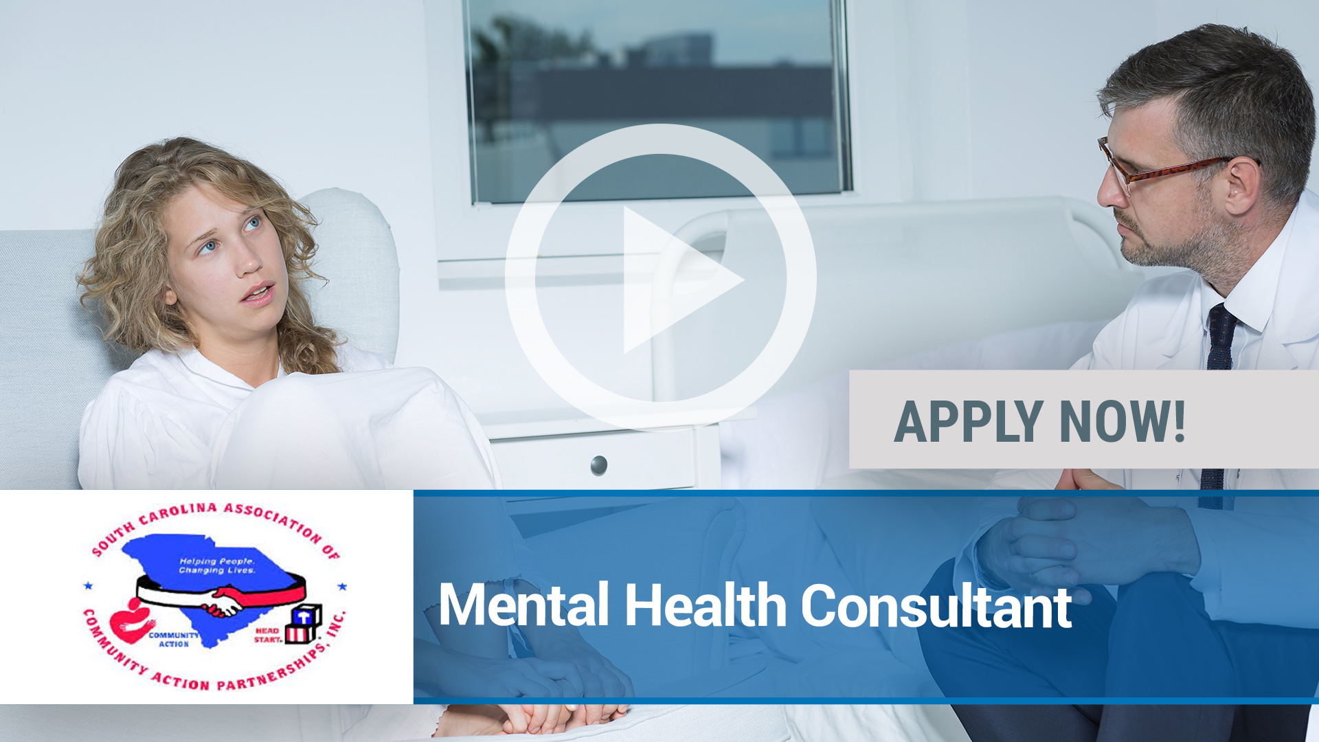 Watch our careers video for available job opening Mental Health Consultant in Columbia, SC