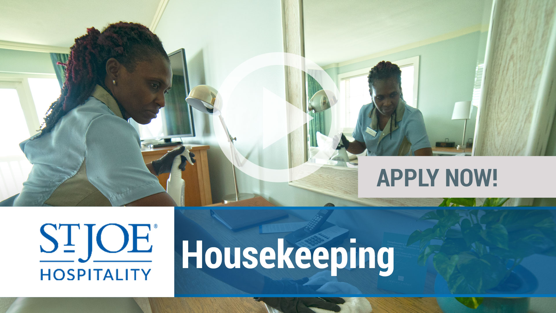 Watch our careers video for available job opening Housekeeping in Varies