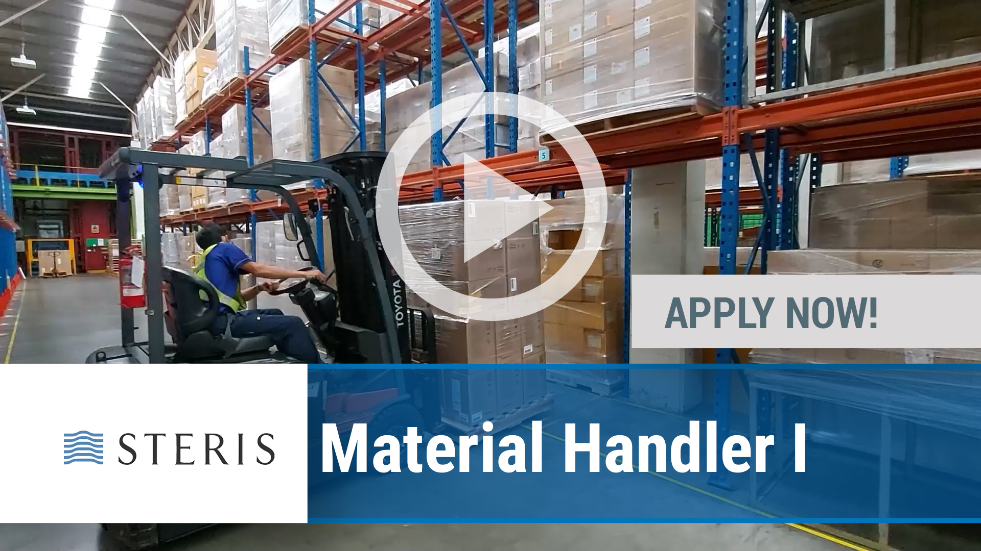 Watch our careers video for available job opening Material Handler I in Multiple Across NA facilities
