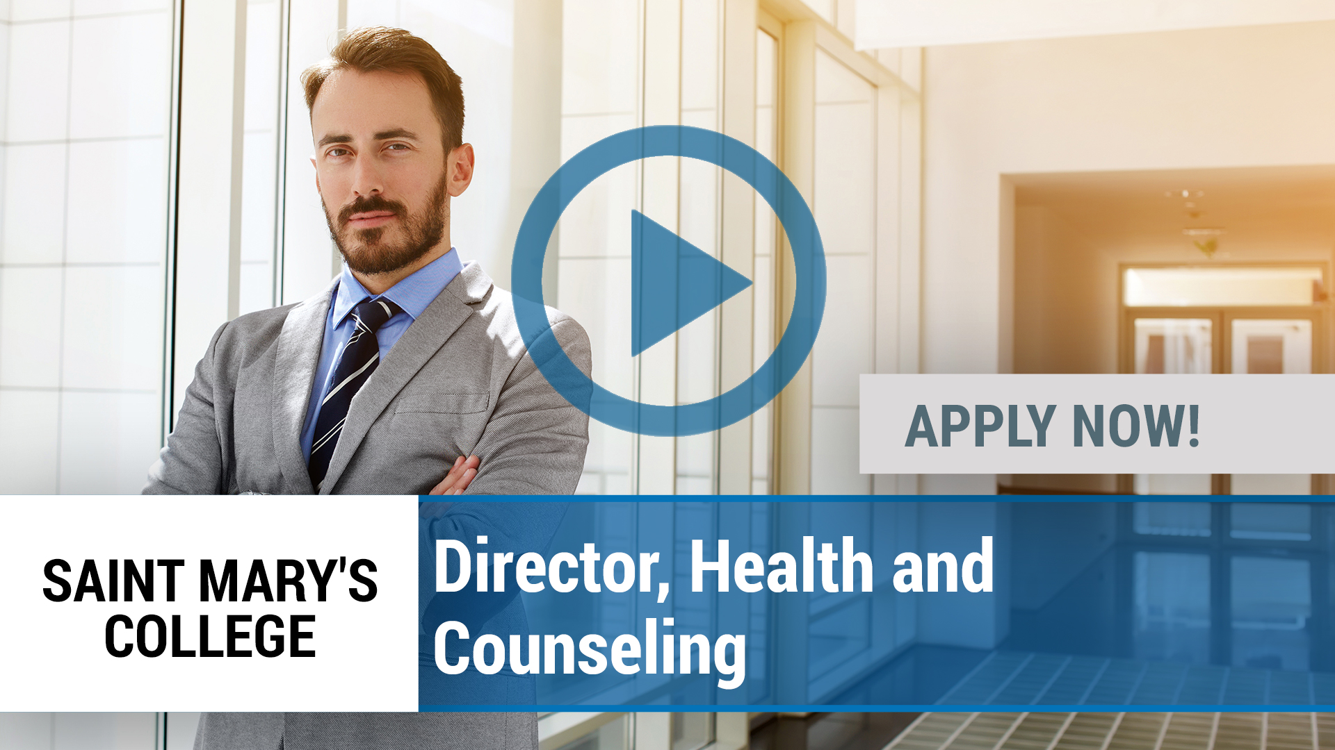 Watch our careers video for available job opening Director, Health and Counseling in Notre Dame, IN
