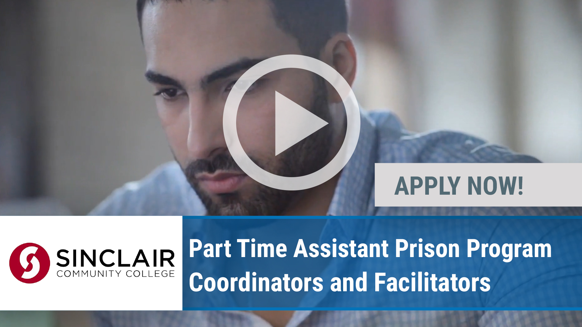 Watch our careers video for available job opening Part Time Assistant Prison Program Coordinators a in Dayton, OH