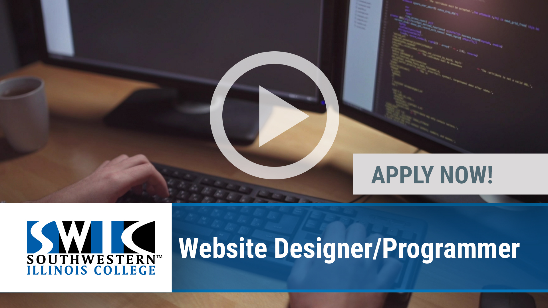 Watch our careers video for available job opening WEB SITE DESIGNER_PROGRAMMER in Belleville, IL, USA