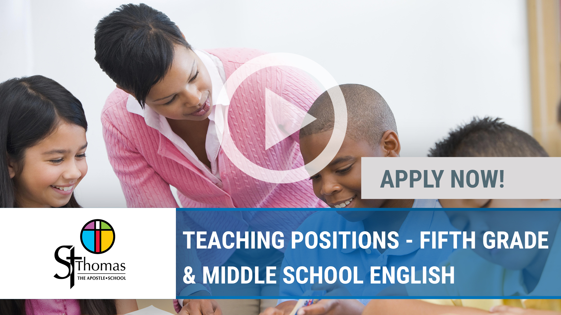 Watch our careers video for available job opening TEACHING POSITIONS - FIFTH GRADE & MIDDLE SCHOOL  in Peoria Heights, IL