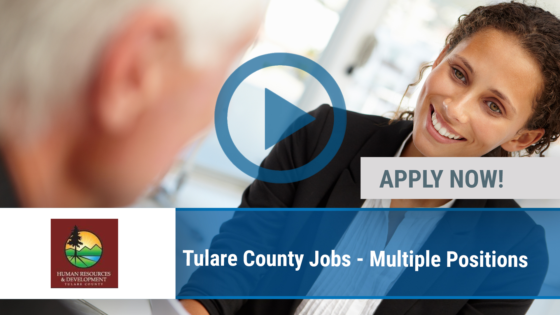 Watch our careers video for available job opening Tulare County Jobs - Multiple Positions in Visalia, CA