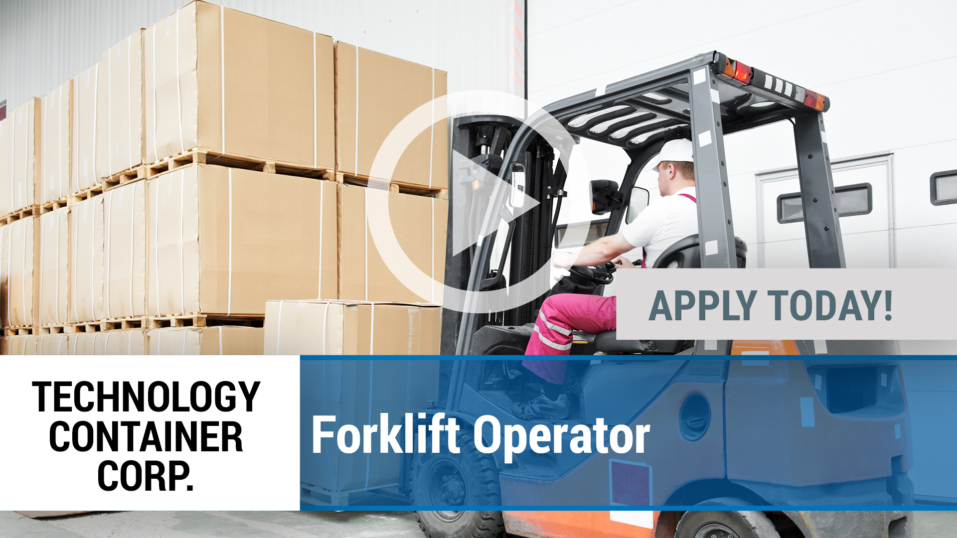 Watch our careers video for available job opening Forklift Operator in Desoto, TX