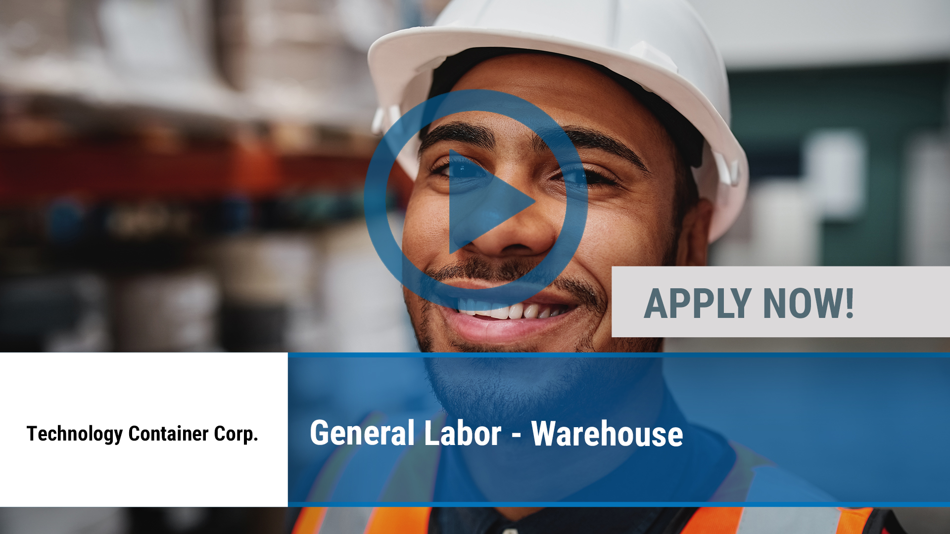 Watch our careers video for available job opening General Labor - Warehouse in Desoto, TX