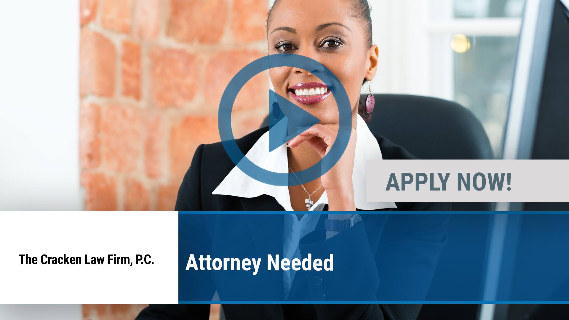 Watch our careers video for available job opening Attorney Needed in Dallas, TX