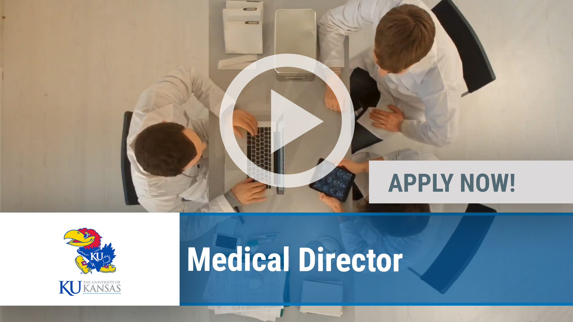 Watch our careers video for available job opening Medical Director in LAWRENCE, KS