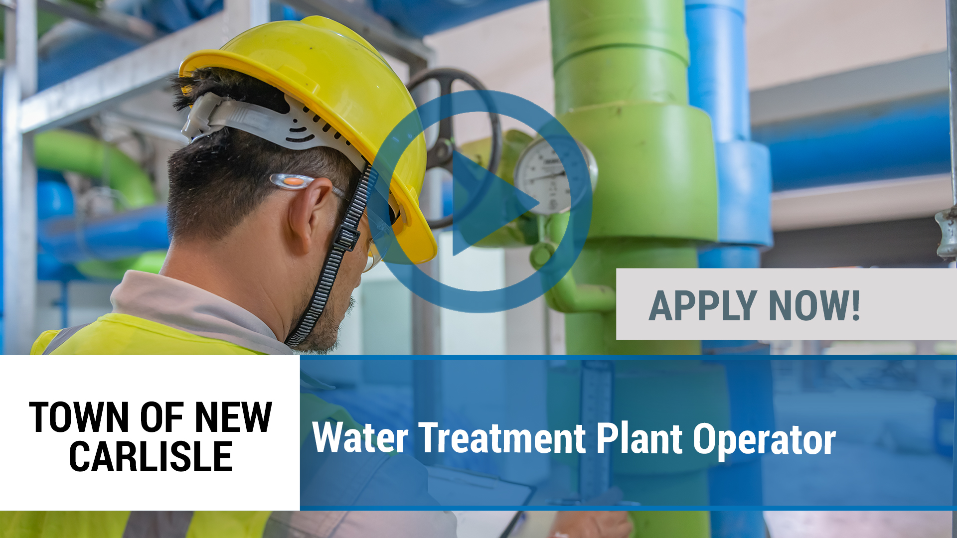 Watch our careers video for available job opening Water Treatment Plant Operator in New Carlisle, IN