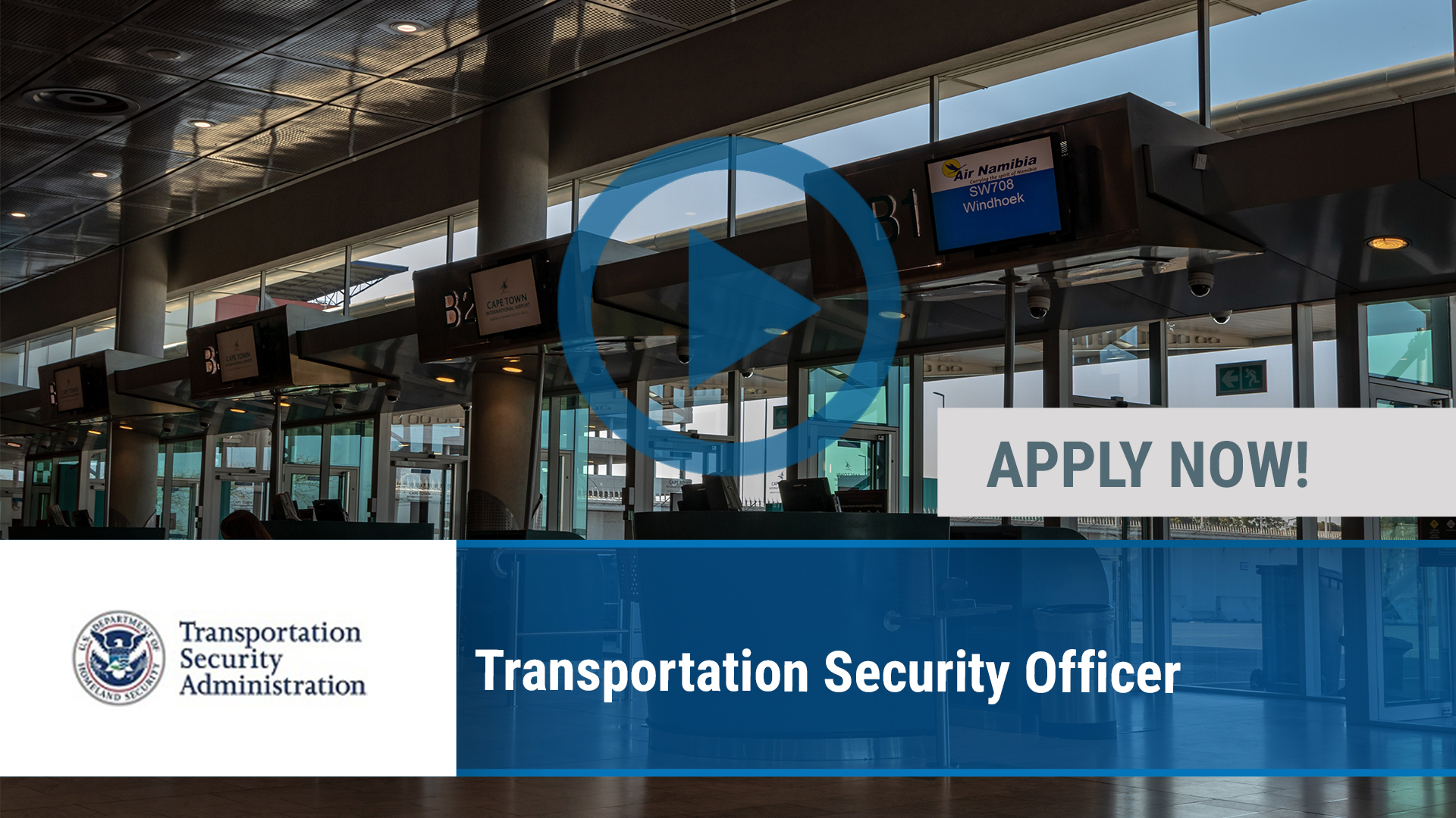 Watch our careers video for available job opening Transportation Security Officer in Peoria, IL
