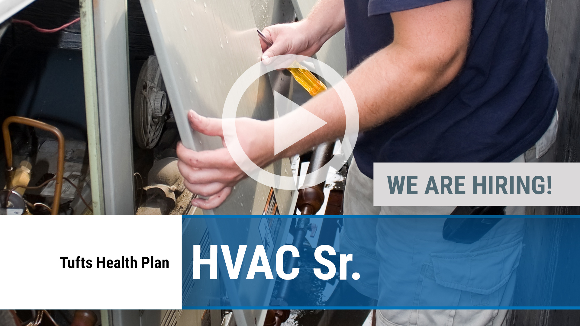 Watch our careers video for available job opening HVAC Sr. in Watertown, MA