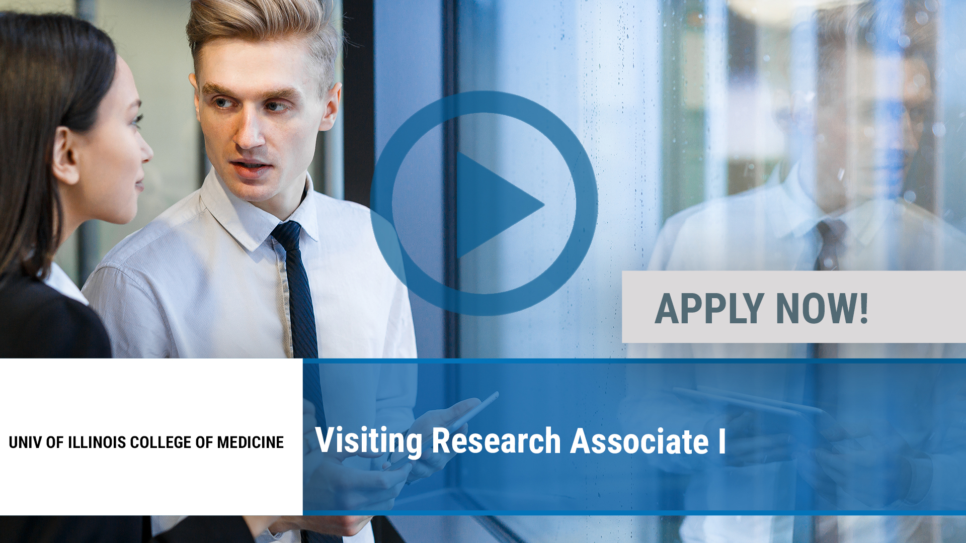 Watch our careers video for available job opening Visiting Research Associate I in Peoria, IL