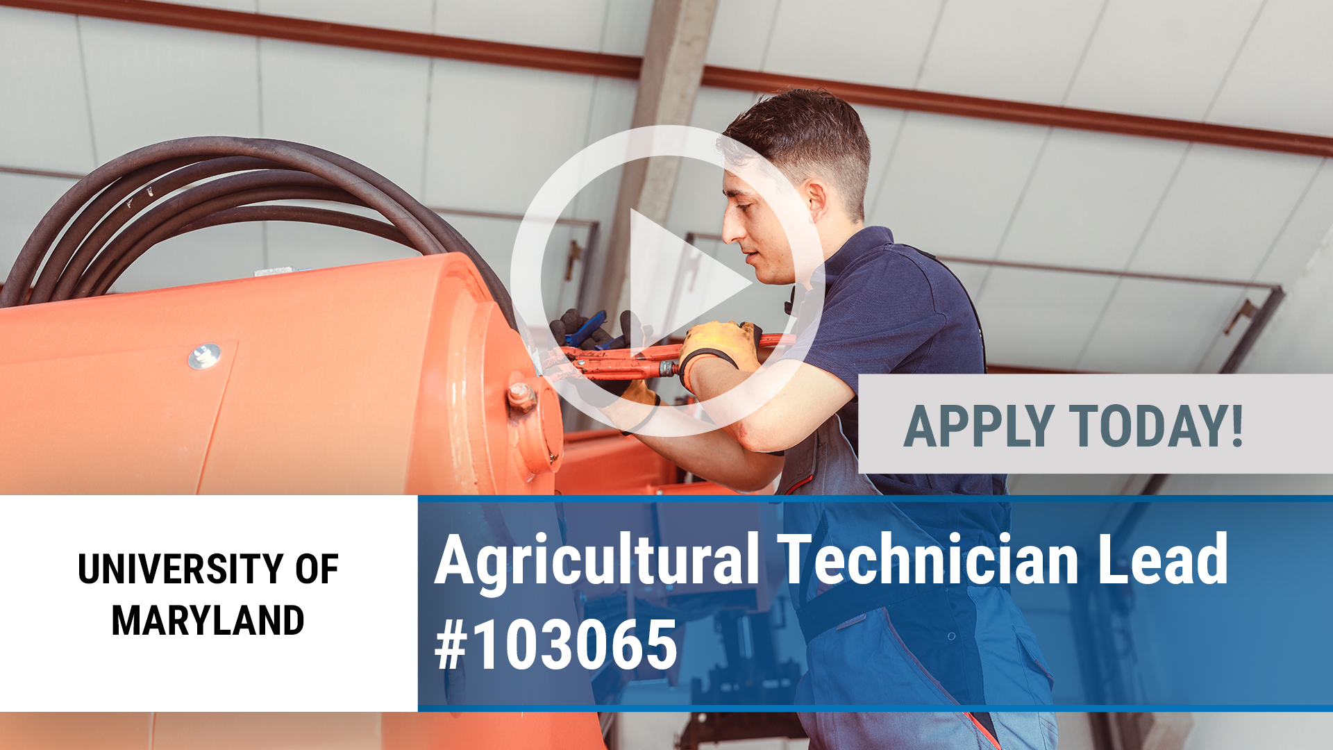 Watch our careers video for available job opening Agricultural Technician Lead #103065 in Keedysville, MD