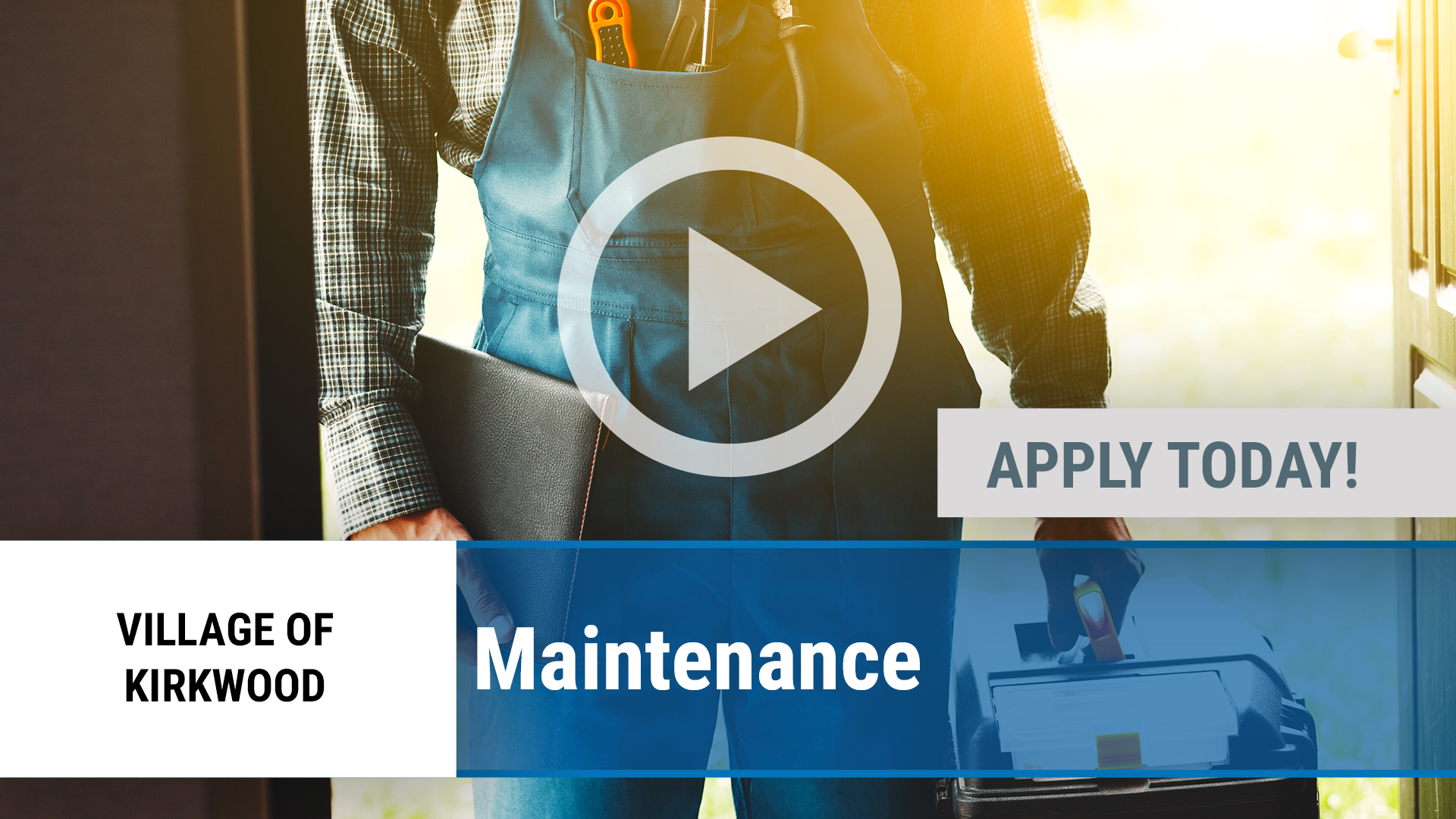 Watch our careers video for available job opening Maintenance in Kirkwood, IL