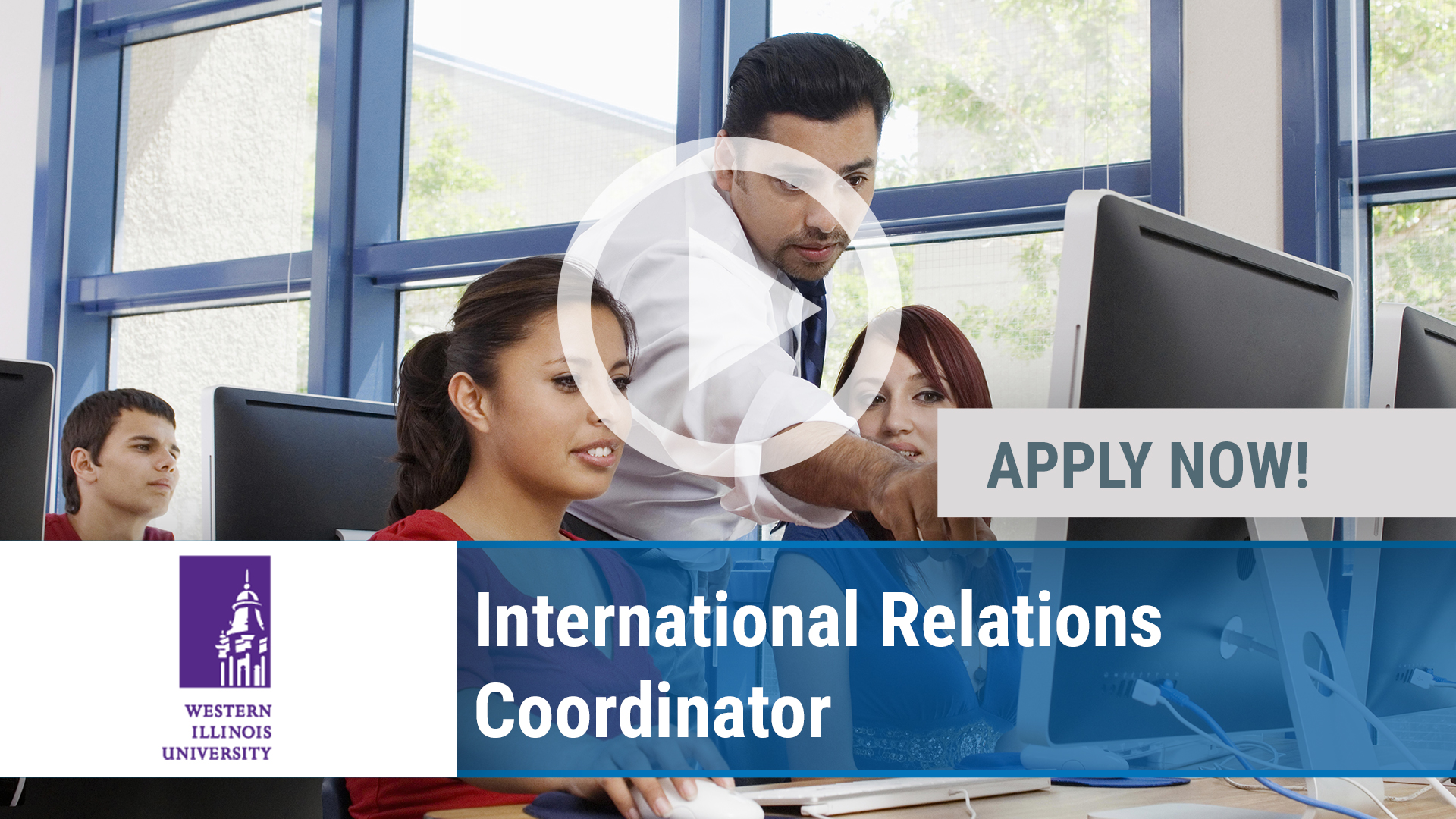 Watch our careers video for available job opening International Relations Coordinator. in Macomb, IL