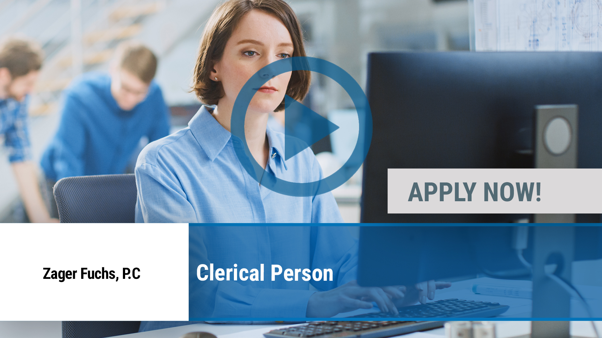 Watch our careers video for available job opening Clerical Person in Red Bank, NJ